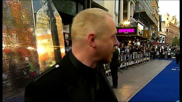 star trek film premier simon pegg interview continued sot - simon pegg stock videos & royalty-free footage