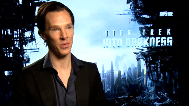 'Star Trek Into Darkness' Junket interviews ENGLAND London INT Benedict Cumberbatch interview SOT / Chris Pine and Zachary Quinto interview SOT