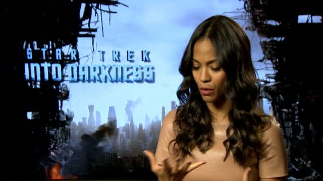 'Star Trek Into Darkness' Junket interviews Zoe Saldana interview SOT / Karl Urban interview SOT