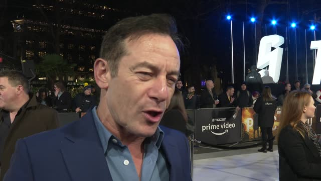 'star trek picard' uk premiere red carpet england london leicester square 'star trek picard' uk premiere jason isaacs red carpet interview and... - jason isaacs stock videos & royalty-free footage