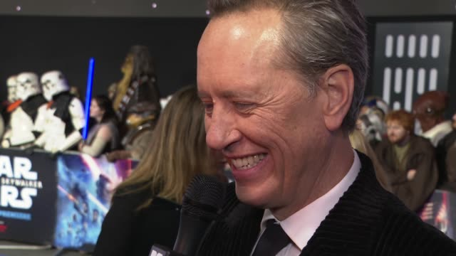 the rise of skywalker' european premiere red carpet; uk, london: 'star wars: the rise of skywalker' european premiere. england: london: leicester... - richard e. grant stock videos & royalty-free footage