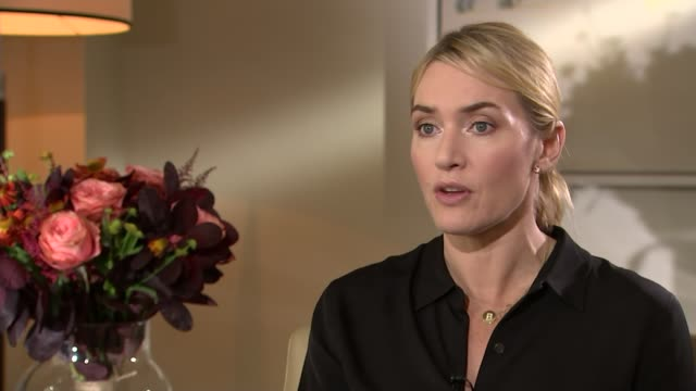 'Steve Jobs' review Kate Winslet interview SOT he was a visionary genius / he saw into the future and saw what we're living with now / it's almost...