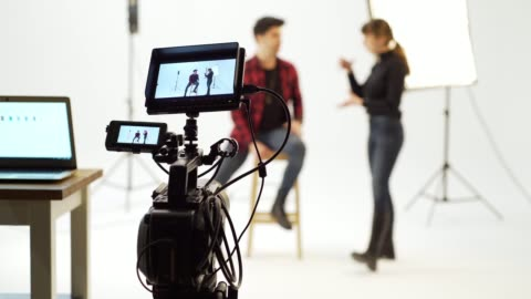 vídeos y material grabado en eventos de stock de estudio de cine - film camera