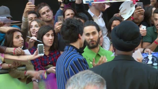 'Suicide Squad' European premiere Jared Leto gvs / Jason Momoa gvs / Margot Robbie gvs