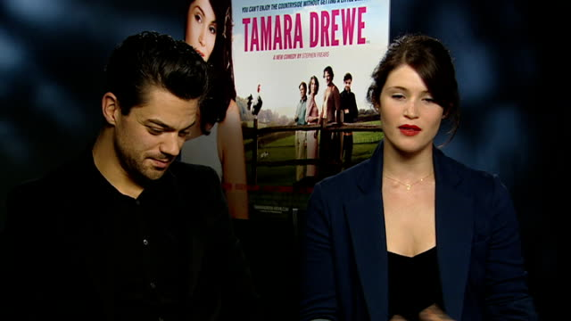 'tamara drewe' junket; england: london: int gemma arterton interview sot - on what attracted her to the role of tamara drewe, character is modern,... - modern rock stock videos & royalty-free footage