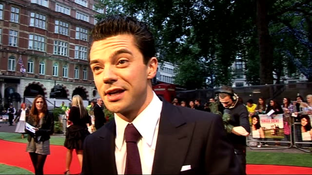 'Tamara Drewe' London premiere celebrity interviews Dominic Cooper interview SOT On the plot of the film / most rock and roll thing he's ever done...