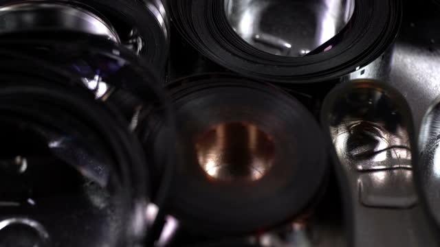 フィルムテープ 4k - サウンドトラック点の映像素材/bロール