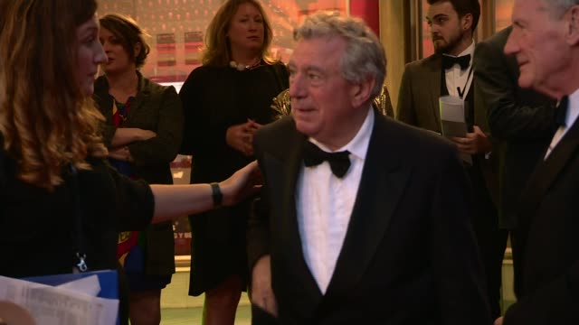 Bafta Cymru Awards 2016 Terry Jones given special award WALES Cardiff PHOTOGRAPHY** Terry Jones along red carpet and posing with Michael Palin as...