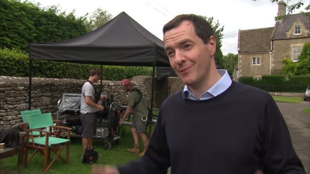 George Osborne announces EU support for tax break for film makers ENGLAND Wiltshire George Osborne MP interview SOT not just the actors but the who...