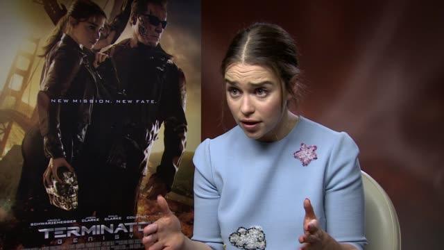 'Terminator Genisys' Junket interviews Emilia Clarke interview SOT