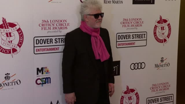 The 39th London Critics Circle Film Awards ENGLAND London Mayfair May Fair Hotel INT Pedro Almodovar GVs / Pedro Almodovar interview SOT