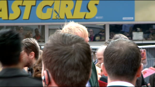 'The Amazing SpiderMan' UK premiere Avi Arad signing autographs/ Matt Tolmach signing autographs on red carpet/ Rhys Ifans along red carpet and...