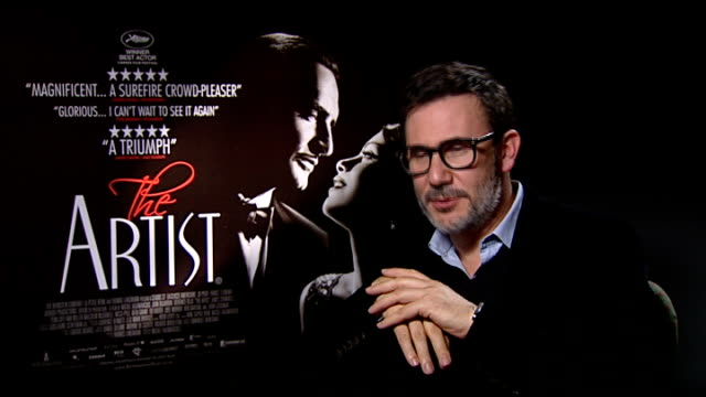 film 'the artist' interviews hazanavicius interview sot on jack the dog / he was a star went back to his trailer a pleasure to work with such a pro... - best supporting actor stock videos & royalty-free footage