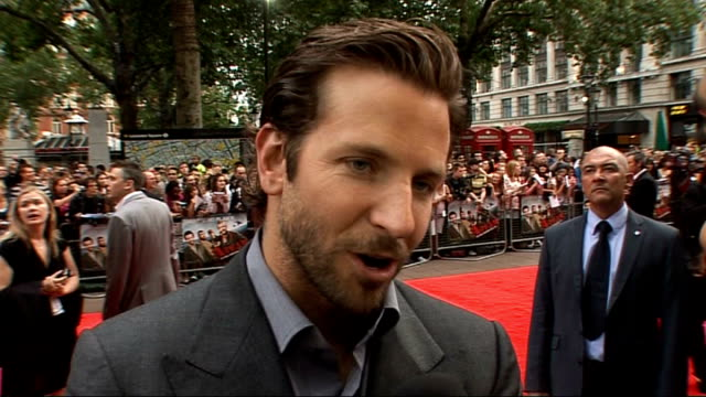 'The ATeam' premiere celebrity arrivals Bradley Cooper interview SOT On playing the role of Face / training for the film / Liam Neeson is the...