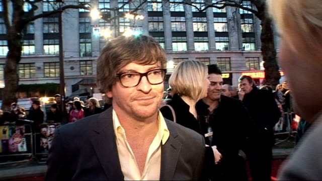 'the boat that rocked' premiere arrivals and interviews rhys darby interview sot on how cold the weather is on being a dj in film favourite 60s song... - 2009 stock videos & royalty-free footage