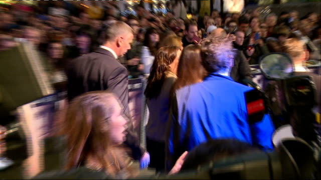 'the counselor' film premiere and blue carpet arrivals javier bardem interview sot on playing flamboyant characters and if this is a reflection of... - javier bardem stock videos and b-roll footage