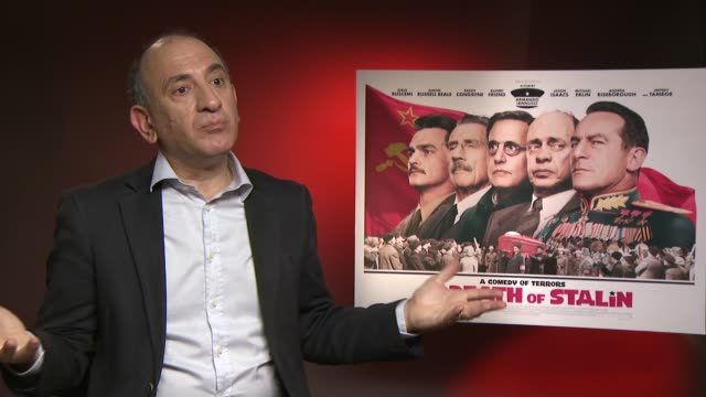 vídeos y material grabado en eventos de stock de 'the death of stalin' junket interviews armando iannucci interview sot - armando iannucci