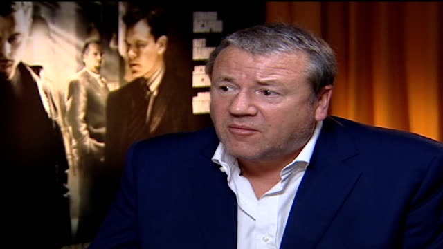 'the departed' ray winstone interview sot loved the fact that scorcese had a sense of humour - ray winstone stock videos & royalty-free footage