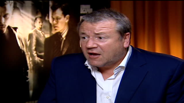 'the departed' ray winstone interview sot scorcese was laughing during filming of many scenes - ray winstone stock videos & royalty-free footage