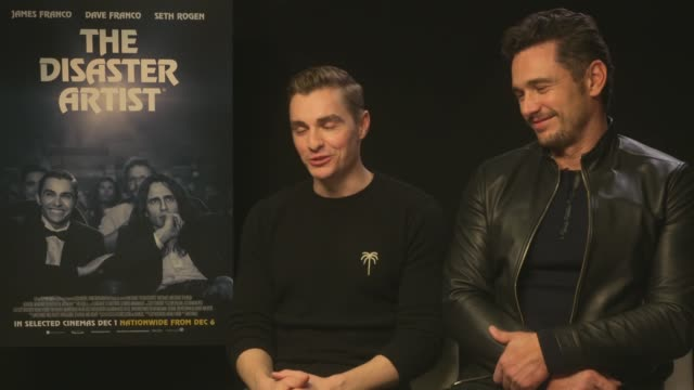 'The Disaster Artist' junket interviews ENGLAND London INT James Franco and Dave Franco interview SOT re new film 'The Disaster Artist'