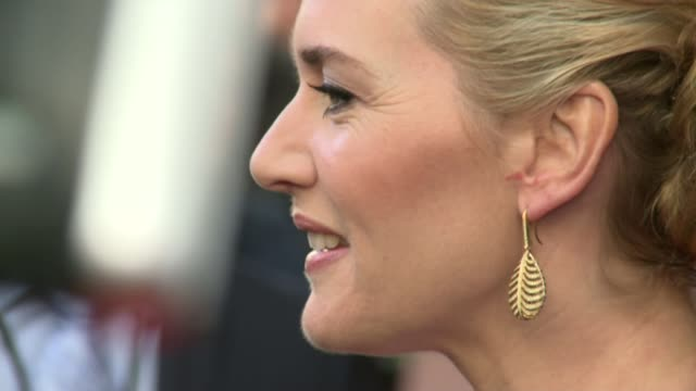 kate winslet interview; 13.4.2014 / r13041523 kate winslet on red carpet at 'a little chaos' film premiere in london/ - kate winslet stock videos & royalty-free footage