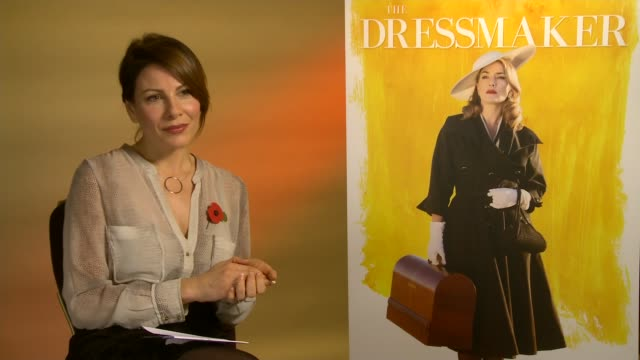 the dressmaker kate winslet interview england int kate winslet interview sot re 'the dressmaker'/ - kate winslet stock videos and b-roll footage
