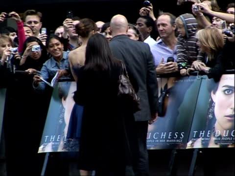 world premiere in london; england: london: ext **some shaky camera shots** keira knightley signing autographs for fans at film premiere of 'the... - shaky stock videos & royalty-free footage