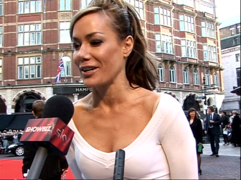 film 'the duchess' world premiere in london tara palmertomkinson interview on red carpet sot excited about the film / just finished shooting the next... - reality fernsehen stock-videos und b-roll-filmmaterial