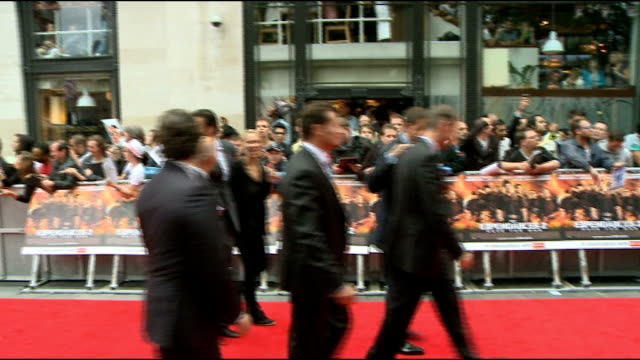 'The Expendables 2' premiere Red carpet arrivals Simon West interview SOT On the cast being badly behaved / the cast sitting around telling old war...