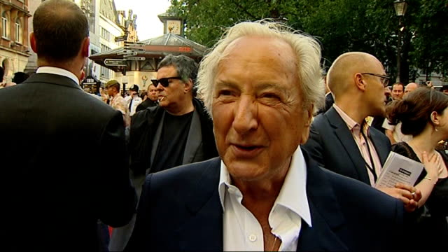 'the expendables' london premiere michael winner interview sot wonderful to see these people still at it reporter to camera - michael winner stock videos & royalty-free footage