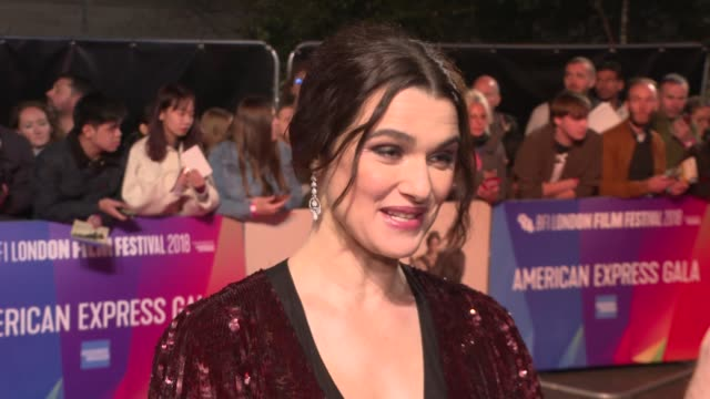 'the favourite' premiere england london waterloo bfi southbank ext rachel weisz interview sot - bfi southbank stock videos & royalty-free footage