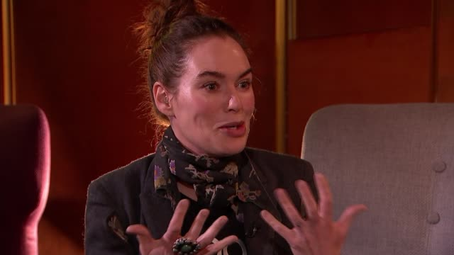 'the flood' highlights the true extent of migrant crisis england int lena headey interview sot - refugee stock videos & royalty-free footage