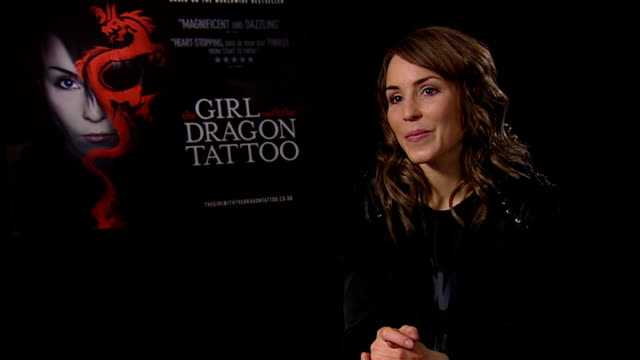 'The Girl With The Dragon Tattoo' Noomi Rapace interview ENGLAND London INT Noomi Rapace interview SOT On Pippi Longstocking being similar to the...