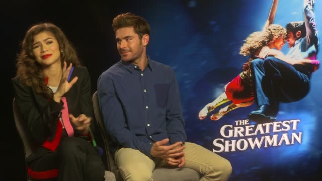 'The Greatest Showman' Junket interviews ENGLAND London INT Zendaya and Zac Efron interview SOT