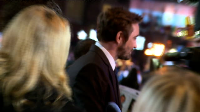 the battle of the five armies: uk film premiere; crowd including people dressed as hobbit characters / billy boyd general views / richard armitage... - the hobbit: the battle of the five armies stock videos & royalty-free footage