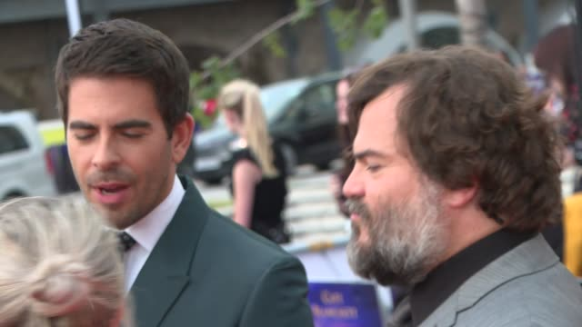 'The House with a Clock in its Walls' premiere Red carpet interviews ENGLAND London Hammersmith and Fulham Shepherd's Bush White City EXT Jack Black...