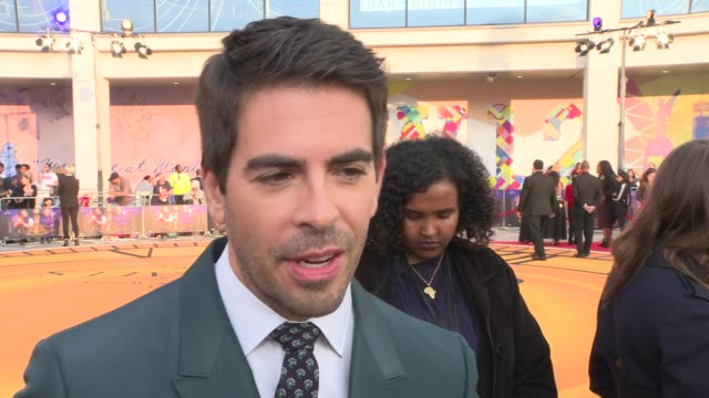 'The House with a Clock in its Walls' premiere Red carpet interviews ENGLAND London Hammersmith and Fulham Shepherd's Bush White City EXT Eli Roth...