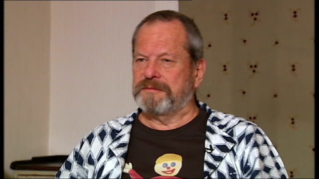 stockvideo's en b-roll-footage met 'the imaginarium of doctor parnassus' terry gilliam and amy gilliam interview terry gilliam and amy gilliam interview sot on johnny depp appearing in... - terry gilliam