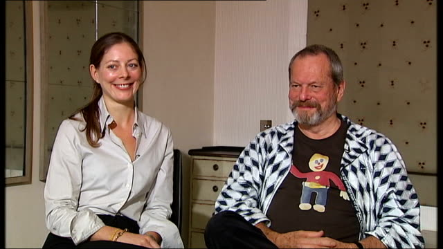 'the imaginarium of doctor parnassus' terry gilliam and amy gilliam interview terry gilliam and amy gilliam interview sot limitations of budget and... - terry gilliam stock videos & royalty-free footage