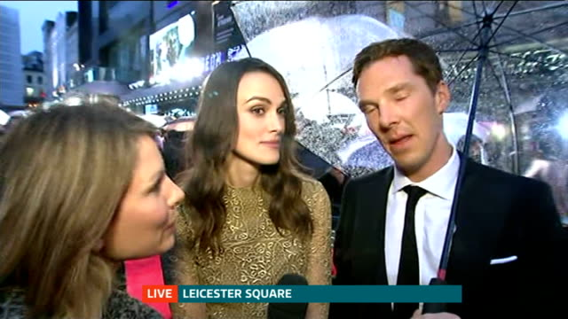 'The Imitation Game' film premiere **Music heard SOT** PHOTOGRAPHY** Benedict Cumberbatch LIVE Red Carpet interview SOT Keira Knightley LIVE Red...