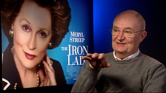 'the iron lady' junket interviews phyllida lloyd and jim broadbent jim broadbent interview sot on not needing any persuasion to play the role and... - persuasion stock videos and b-roll footage