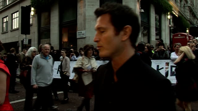 'the kid' premiere in london red carpet arrivals nick moran speaking to press / nick moran interview sot pleased reviews and feedback have been good... - telstar stock-videos und b-roll-filmmaterial