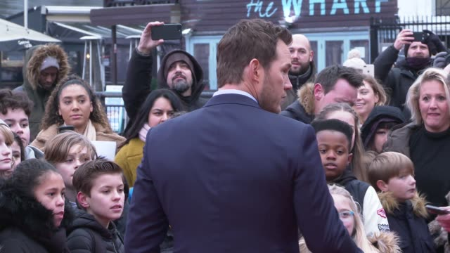 'the lego movie 2' lego cafe popup and cast interviews england london southwark south bank chris pratt on red carpet / pratt taking selfie with... - chris pratt actor stock videos and b-roll footage