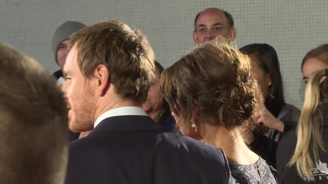 'The Light Between Oceans' premiere ENGLAND London Curzon Mayfair PHOTOGRAPHY*** Michael Fassbender and Alicia Vikander posing on red carpet and...
