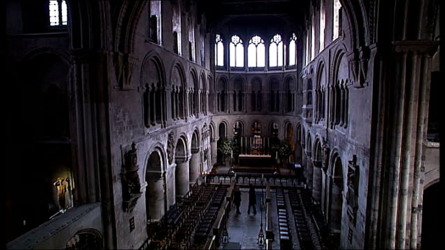 the london locations of sherlock holmes; reporter with edleston as he explains how the church of st bartholomew the great location in smithfield was... - sherlock holmes stock videos & royalty-free footage