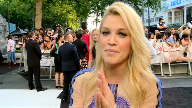 'the lone ranger' film premiere red carpet arrivals and interviews gvs ashley roberts / ashley roberts interview sot / gvs ruth wilson / gvs cheska... - the lone ranger 2013 film stock videos and b-roll footage