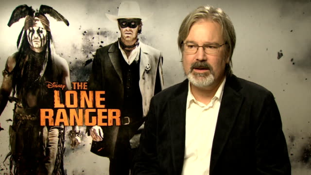 'the lone ranger' junket interviews gore verbinski interview sot - the lone ranger 2013 film stock videos and b-roll footage