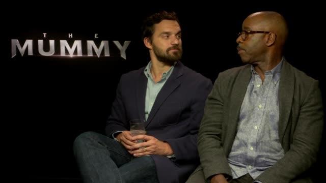 'The Mummy' junket interviews Jake Johnson and Courtney B Vance interview SOT Alex Kurtzman interview SOT