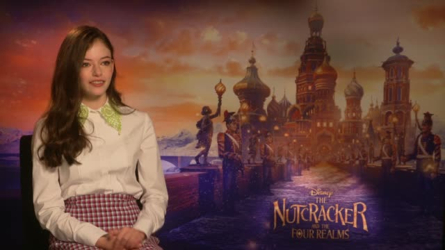 'The Nutcracker and the Four Realms' Mackenzie Foy junket interview ENGLAND London INT Mackenzie Foy interview SOT