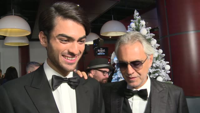 'the nutcracker and the four realms' premiere; england: london: matteo bocelli and andrea bocelli interview sot - andrea bocelli stock videos & royalty-free footage